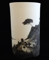 grand vase paysage 45 cm